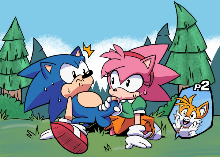 amy porn hedgehog sonic the Demon with green glowing eyes